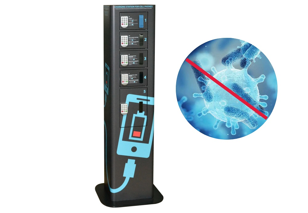Abschließbare Handyladestation - UV-C Handy Sterilisation & Desinfektion
