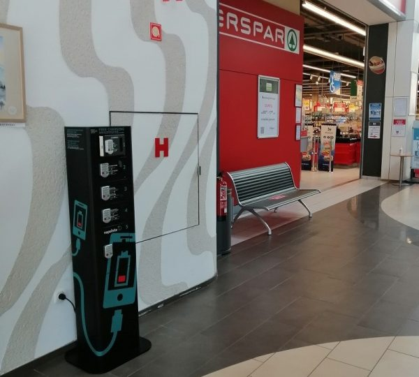 Charging station for mobile phones